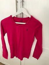 Ralph Lauren Polo Girls long sleeve t shirt top, dark pink (XL/age 16 - small si