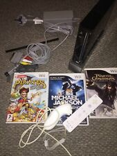 Nintendo wii console bundle black Console 3 Games,1 Controller And N/Chuck White