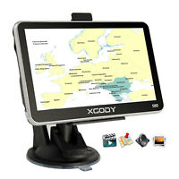 XGODY 5'' 8GB SAT NAV Device GPS Navigation Unit With Lifetime AU Map +Sunshade