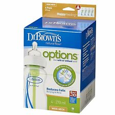 Dr Brown's Options Wide Neck Bottle (270 ml, Pack of 4)