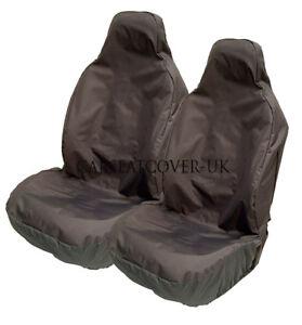 KIA Sportage - Heavy Duty Black Waterproof Car Seat Covers - 2 x Fronts