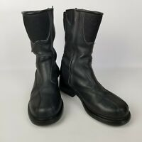 SIDI LEI Womens Black Motorcycle Side Zip Boots EU 38 US 6.5 Leather