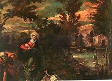 Alte Kunstpostkarte - Jacopo Tintoretto - Die Flucht nach Ägypten