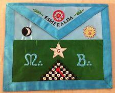 Franc-maçonnerie tablier loge itinérante Esmeralda - Masonic apron