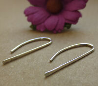 925 Sterling silver handmade bar drop earrings