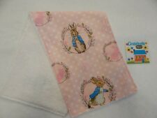 Peter Rabbit Pink Burp Cloth - 1 Only Toweling Back - Beatrix Potter