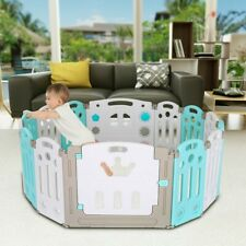 Baby Playpen Kids Activity Centre Safety Play Yard Home In/Outdoor 14 Panel