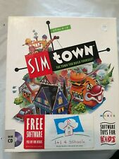 Sim Town Software for kids. Windows Cd 1995. A Town you build yourself.