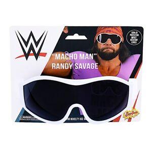 WWE Macho Man Randy Savage White Sunglasses Costume Party Shades Sun-Staches