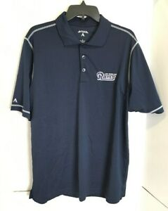 NFL Los Angeles Rams Polo Shirt by Antigua Men's Size L (H1790)