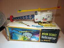 Vintage NASA Marx Moon Patrol Recovery Scout Helicopter Space Toys w/ Orig Box