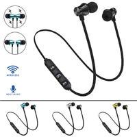 BT 4.1 Stereo Earphone Headset Wireless Magnetic In-Ear Earbuds Headphone W' Mic