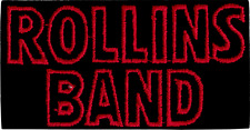 19189 Rollins Band Red Black Logo Henry Post Hardcore Punk Rectangle Patch