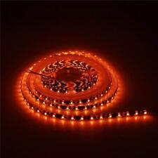 16.4ft Orange 300LEDs Flexible Strip Light 3528SMD Waterproof IP65 12V Black PCB