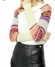 Free People Women's Prism Fair Isle Sweater Ivory Size Size M NEW