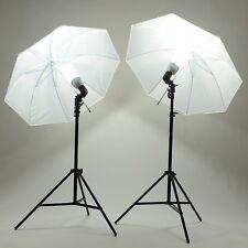 KIT FOTOGRAFÍA ESTUDIO 2x135W LÁMPARA FLASH +2* PARAGUAS+2* trípode