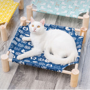 Elevated Pet Bed Cute Cot Dog Cat Portable Folding Home Camping Hammock Foldable