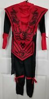 New W/O Tags Boys Red Black Ninja Fighter Child Dress Up Costume Size Small 4/6