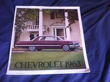 1963 Chevrolet Bel Air Impala SS BIscayne Color Brochure Catalog PROSPEKT