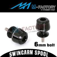 Fit Yamaha MT-01 2005-2012 05 06 07 08 CNC Rear Swingarm Spools Bobbins BLACK