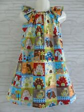 Handmade Girls Dinosaurs dress age 6-7 years