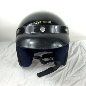 Cyber U-4 Open Face Motorcycle Helmet Black Adult S Pre-Owned