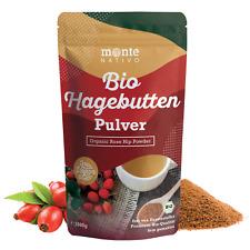 Bio Hagebuttenpulver 1kg (1000g) Monte Nativo; Vegan; Frei von Zusatzstoffen