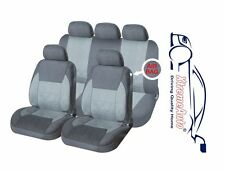 9 PCE Full Set of Grey Woven Fabric Seat Covers for Ford Fiesta Focus Mondeo KA