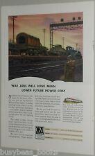 1943 General Motors Diesel ad, trains tanks trucks etc