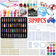 389x DIY Jewelry Mould Handmade Crystal Glue Making Set Resin Silicone Mold Kit