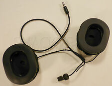 HGU US Flight Helmet Microphone Earcups with communications assembly HGU55 HGU84