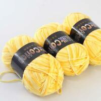 Colorful 3ballsx50g Cotton Soft Baby Hand-dyed Wool Socks Scarf Knitting Yarn 02