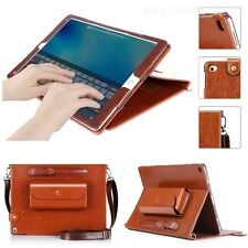 """Tablet Protective Case for Apple iPad Pro 12.9"""" Genuine Leather Cover w/ Stylus"""