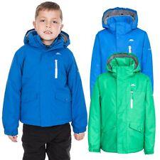 Trespass Ballast Boys Padded Waterproof Rain Jacket in Navy Blue & Green