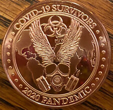 Copper Round Pandemic Survivor 2020 Commemorative .999 1oz.