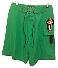 30 Oakley 1 Pocket Mens Board Shorts Lace Front Green NWT
