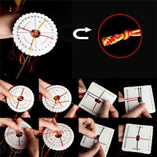 2Pcs Round Square  Kumihimo Beading Cord Disc/Disk Braiding Plate DIY Braided