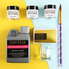 Acrylic nail starter kit inc nail liquid💖 nail powder/nail form/nail art brush