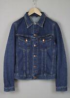 Nudie Jeans Billy Worn Clean Uomo Medio Blu Denim Giacca Blazer 1577-mm