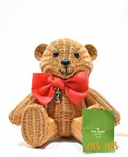 NWT Kate Spade New York Flavor of the Month Wicker Teddy Bear Bag Purse Hand Bag