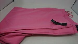 Women's Marks & Spencer Pink Straight Long High Rise Trousers Size 24 -New Other