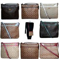 Coach Signature File Bag Crossbody Purse Handbag Messenger F29210 Authentic NWT