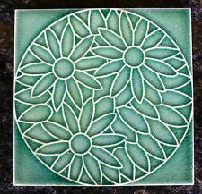 Jugendstil Fliese art nouveau tile Servais DTAG ? Blüten floral stilisiert  rar