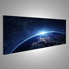 Erde Weltall Bild auf Leinwand XXL Bilder ADL-Pano