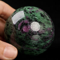 337g 58mm Natural Ruby in Zoisite Quartz Crystal Sphere Healing Ball Chakra