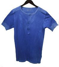 NEW COTTON CITIZEN Del Toro Henley T Shirt sz S Bright Blue