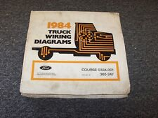 1984 Ford CL9000 CL Series Semi Truck Electrical Wiring Diagram Manual