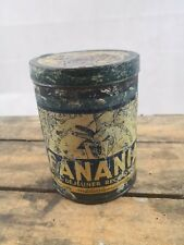 """Boite BANANIA bleu ancienne/""""Tout un régime dans une tasse""""/collection années 30"""