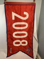 PHILADEPHIA PHILLIES SGA WORLD SERIES CHAMPIONS 2008 NYLON BANNER FLAG MODELLS