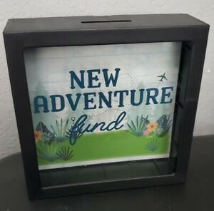 New Adventure Fund Piggy Bank Shadowbox Money Saving Coin Decor Outdoorsy Nature